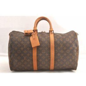 Louis Vuitton monogram canvas Keepall 45 handbag